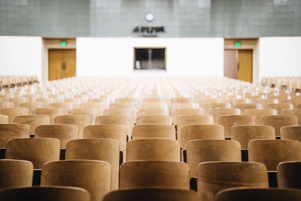 auditorium full of empty seats
